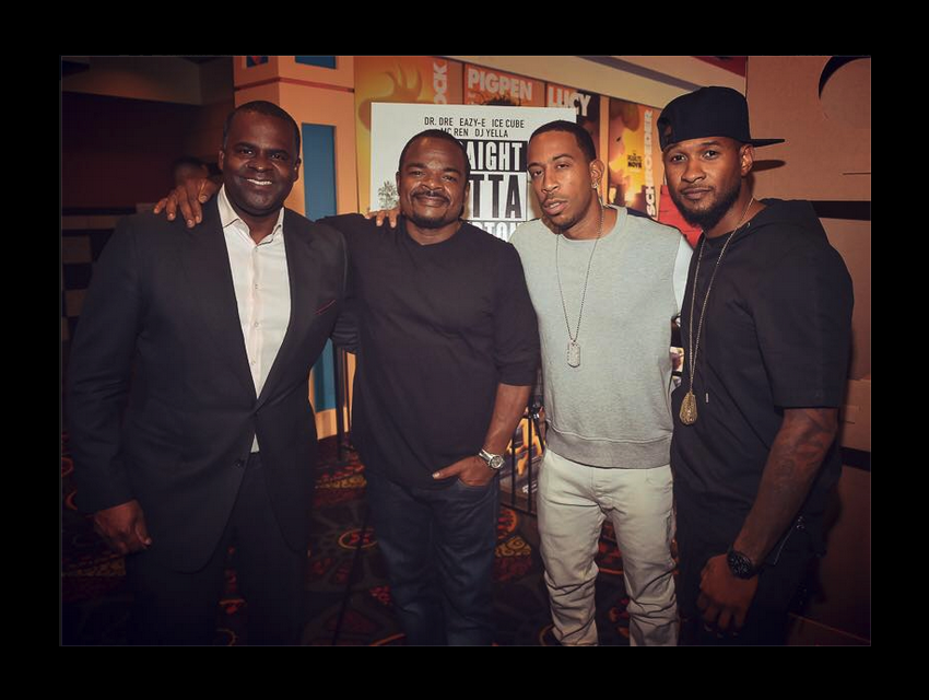 F. Gary Gray (second from left) with Usher and Ludacris