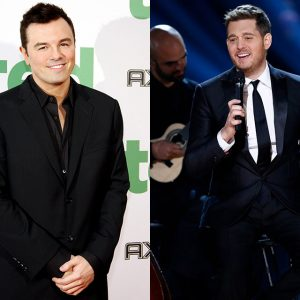 Seth MacFarlane and Michael Buble, members six and seven of the Rat Pack.