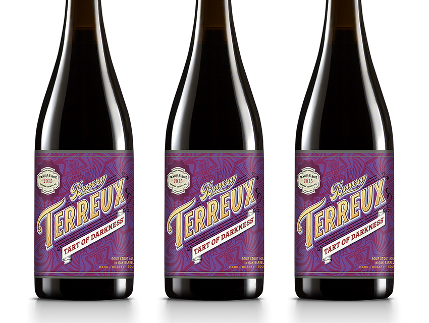 The Bruery's Tart of Darkness takes a literary approach to beer puns
