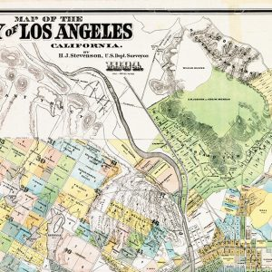 Map of the city of Los Angeles, Henry J. Stevenson, 1884