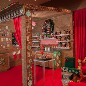 The JWMarriot is displaying a 1,300 lb. gingerbread house all month long