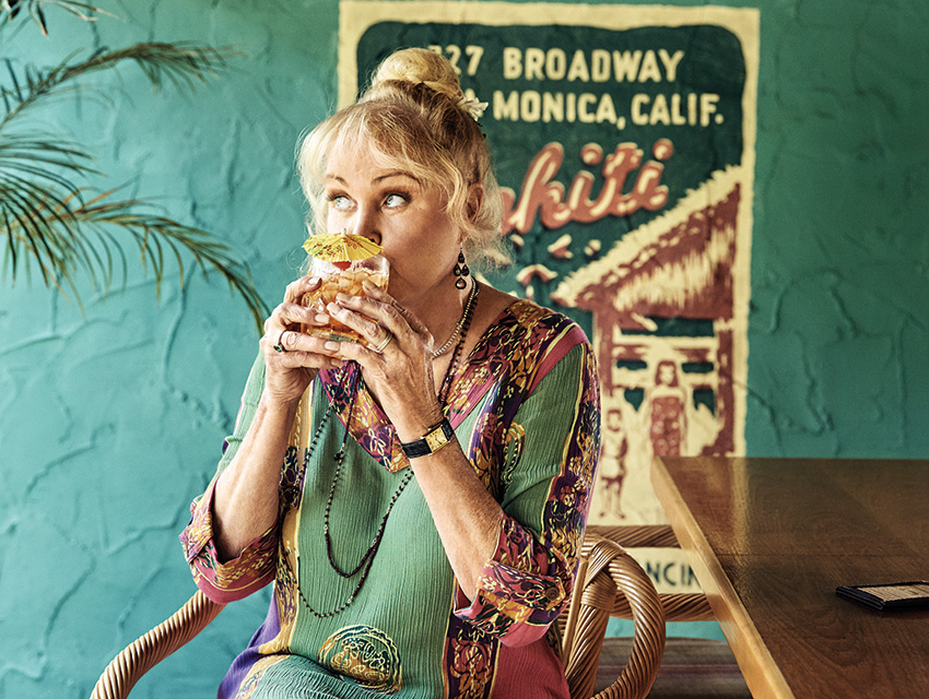 Former Mamas & The Papas singer Michelle Phillips at her bar