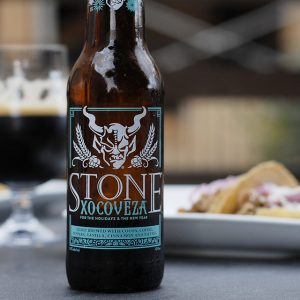 Stone's Xocoveza, a Mexican hot chocolate stout, pairs perfectly with carnitas tacos