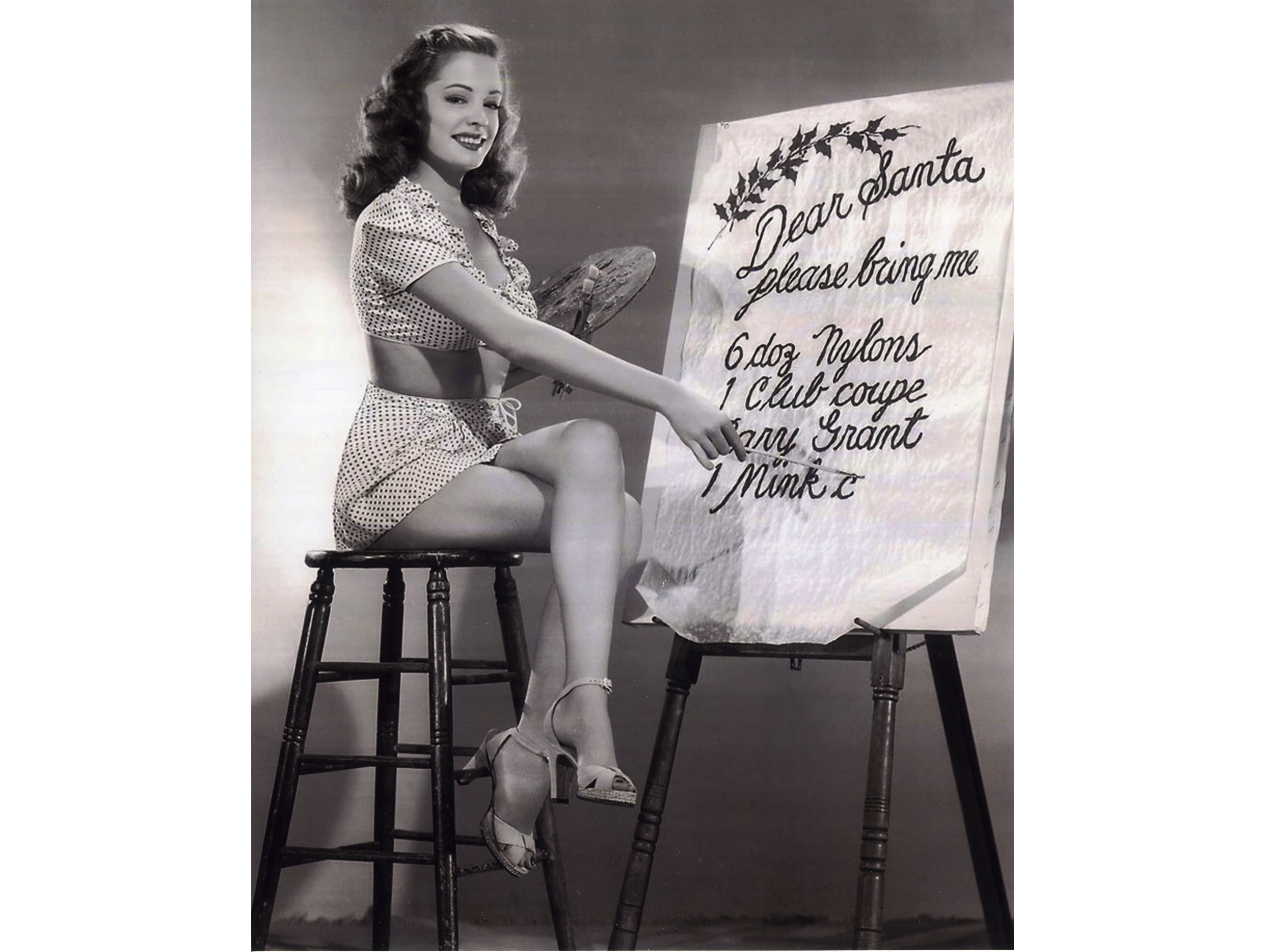 Sultry Jane Greer Drafts Her Christmas Want List