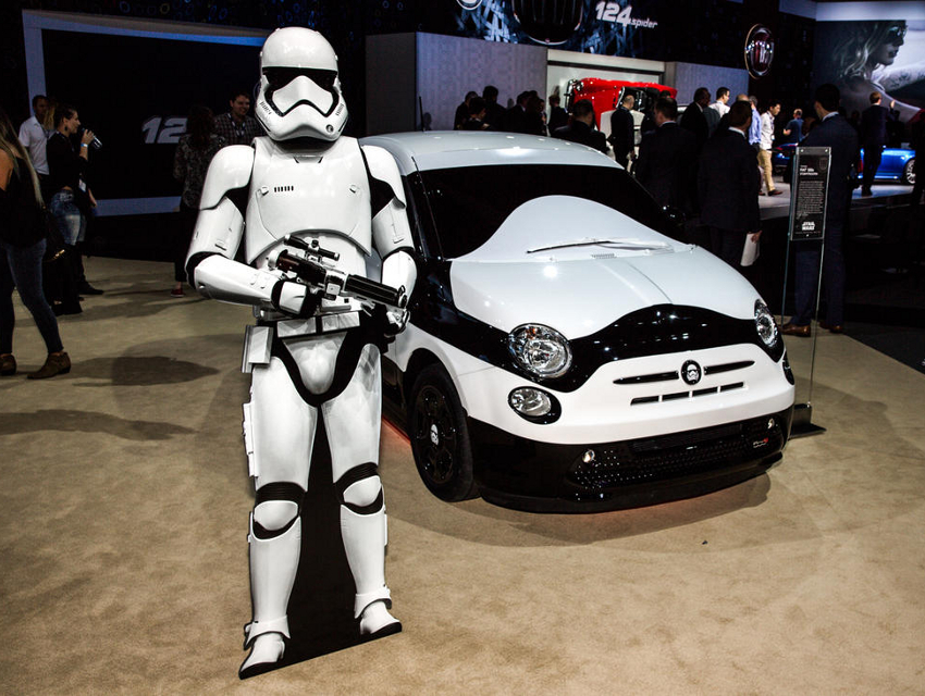 the star wars fiat awakens at the l a auto show los. Black Bedroom Furniture Sets. Home Design Ideas