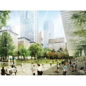 Proposal for Pershing Square by Agence TER with SALT Landscape Architects