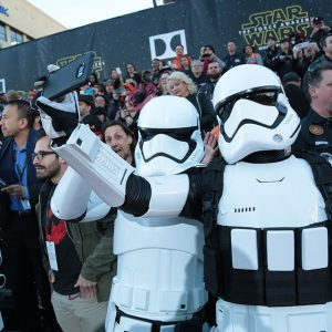 Storm Troopers stopping for a selfie