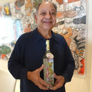 Cheech Marin and his new Tres Papalote Mezcal.