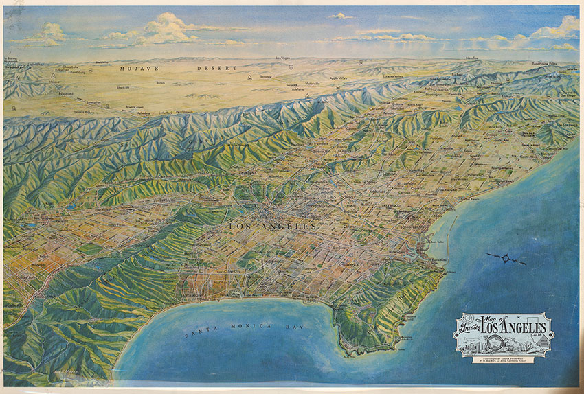 CityDig See The Mountain Ranges Of Los Angeles In All Their Glory - World map la