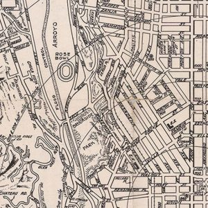 Pasadena Map and Street Index, Pasadena - First National Bank, John L. Lynde - cartographer, 1941