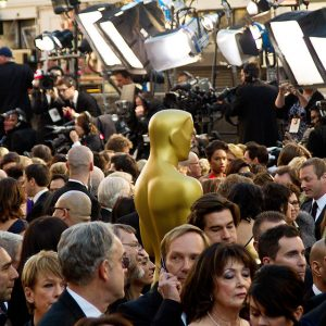 A 2011 shot of the Oscars red carpet crush