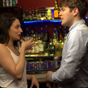 Jenny Slate and Jake Lacy in 'Obvious Child'