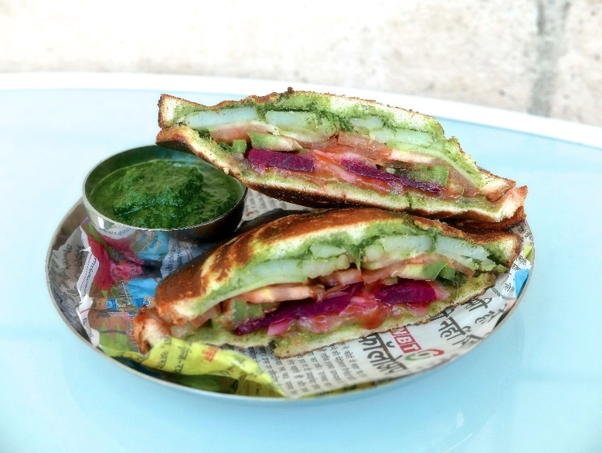 Imli's Rasta Sandwich is Indian street food staple