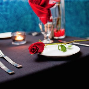 Simply prepared rose: the first course on your prix-fixe.