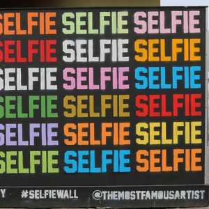 The Selfie Wall. So meta right now.
