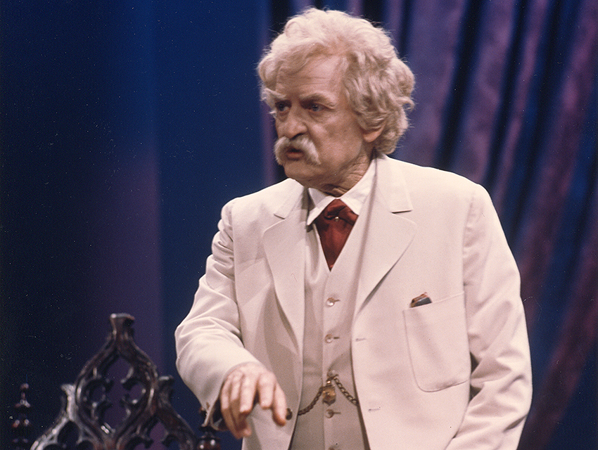 "Holbrook in ""Mark Twain Tonight!"""