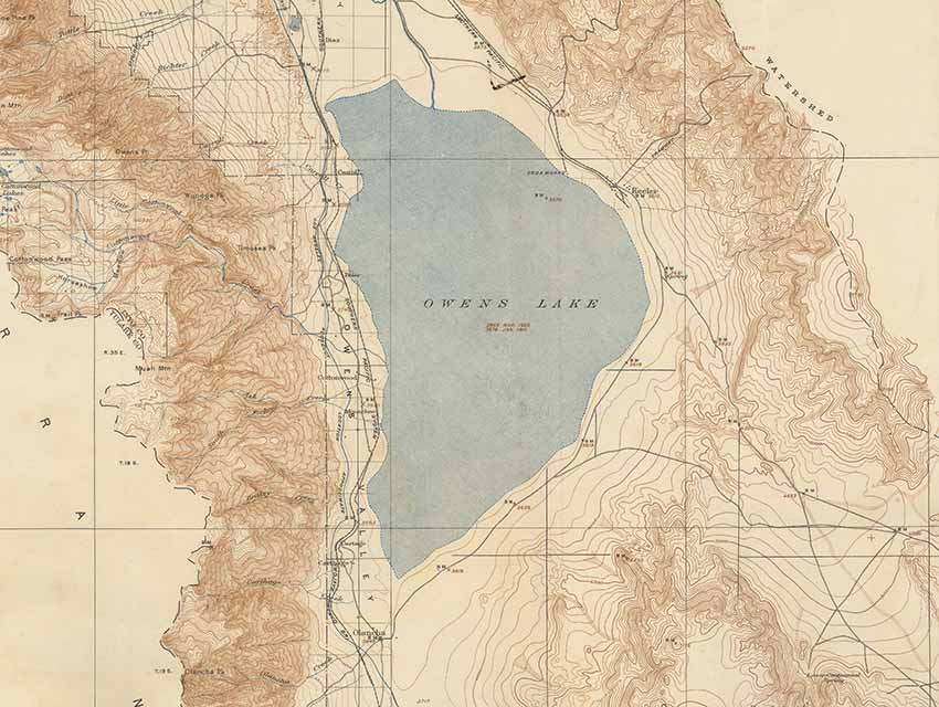Owens Lake And Vicinity Geological Survey 1939 Surveyed Between 1905 1911
