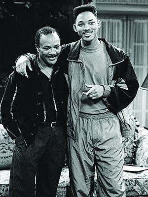Jones and Will Smith at a taping of The Fresh Prince of Bel-Air