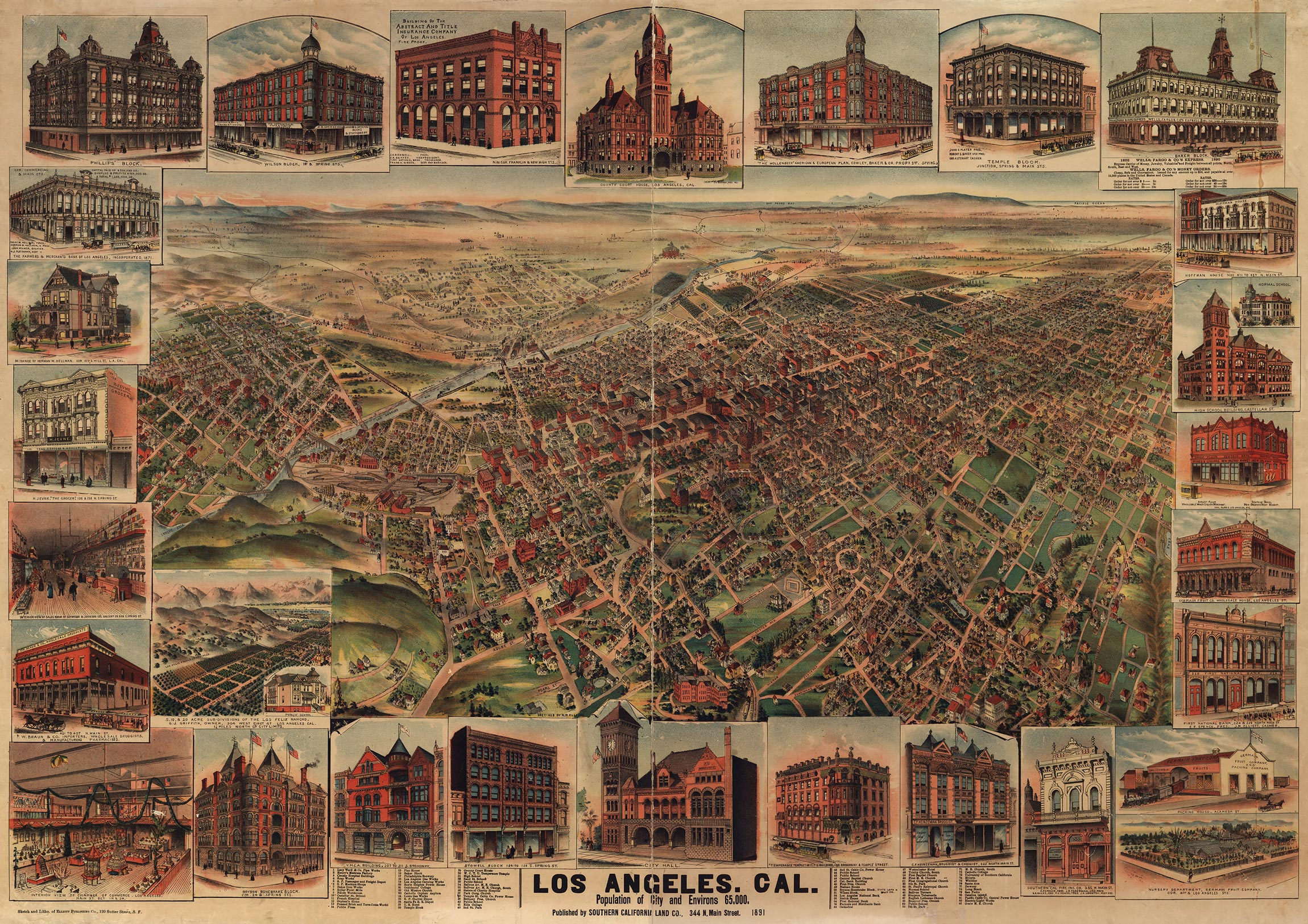 CityDig This Map Of LA Will Have You Missing The Good Old Days - Los angeles map by city