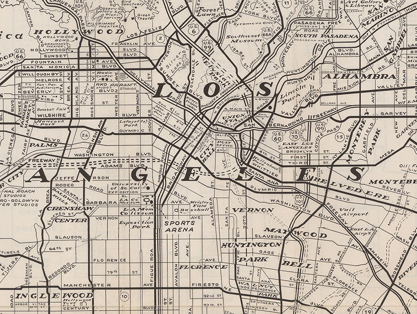 See LA Through the Eyes of a Newcomer with This 1960s Map Los
