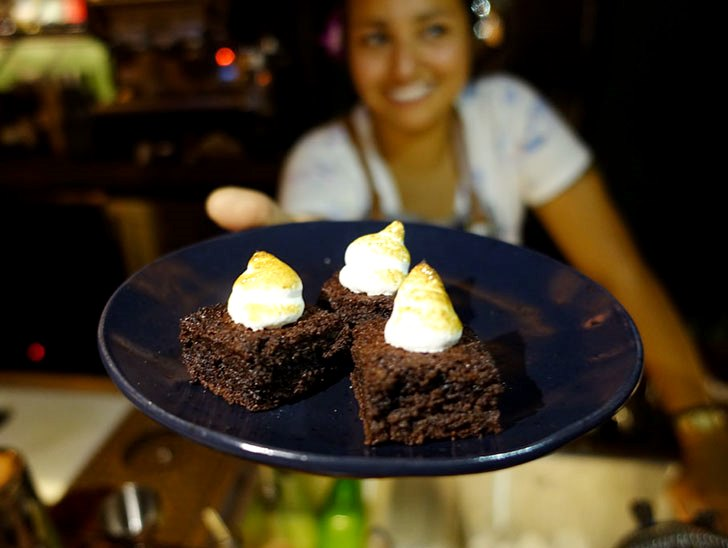 A free round of brownies to signal last call.