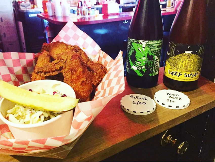 Fried chicken and local beer? Yes, please.