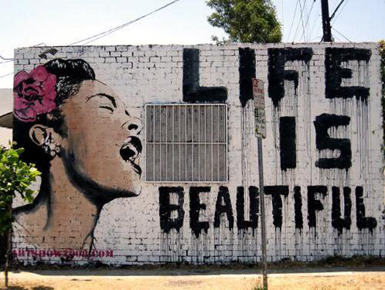 These 9 murals will make you happy los angeles magazine for Mural by mr brainwash