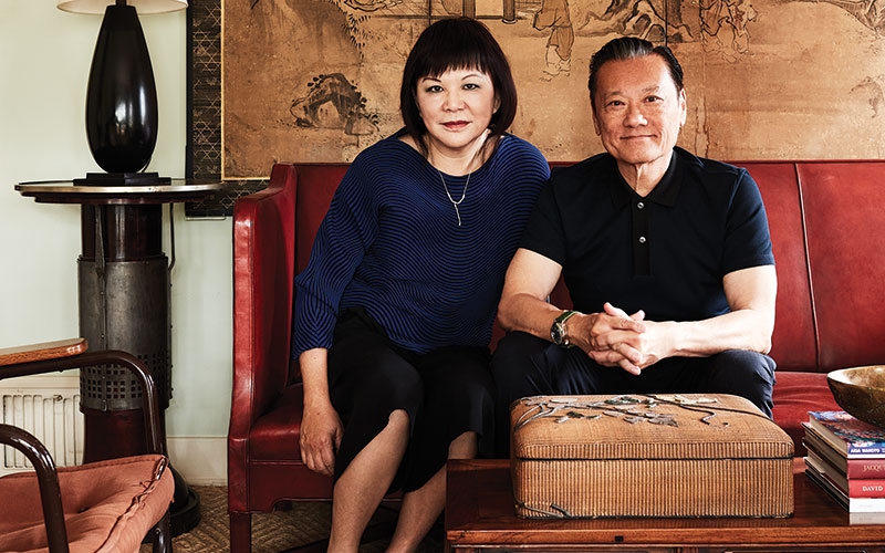 Chen with his wife, Margaret in his home