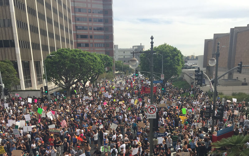 Anti-Trump protests stretch into fifth day