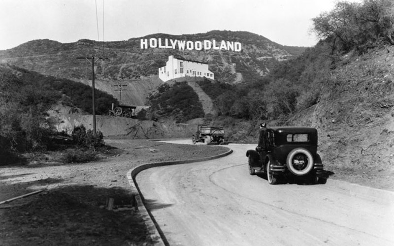 The Hollywood Sign In 1935