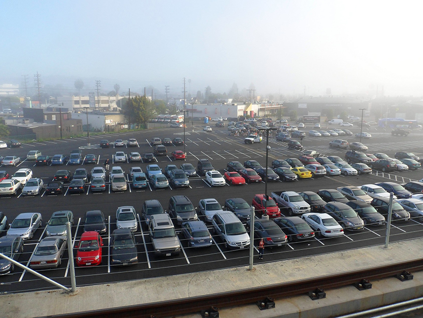 4 ways to get to the parking lot deprived culver city for Lax long term parking lot