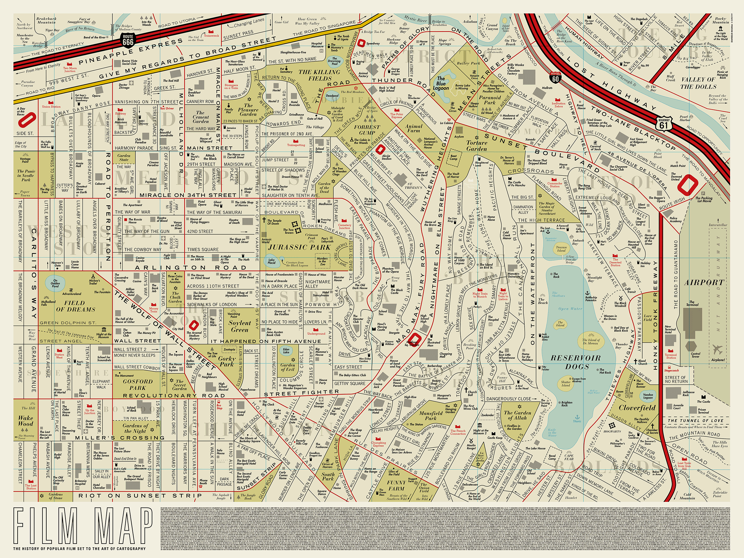 This Beautifully Clever Map Replaces All Of LAs Street Names - Los angeles map silver lake