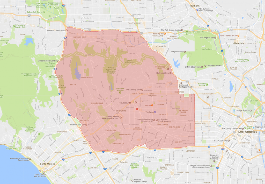 Square Miles Of Los Angeles Are Surrounded By A Hidden - San francisco eruv map