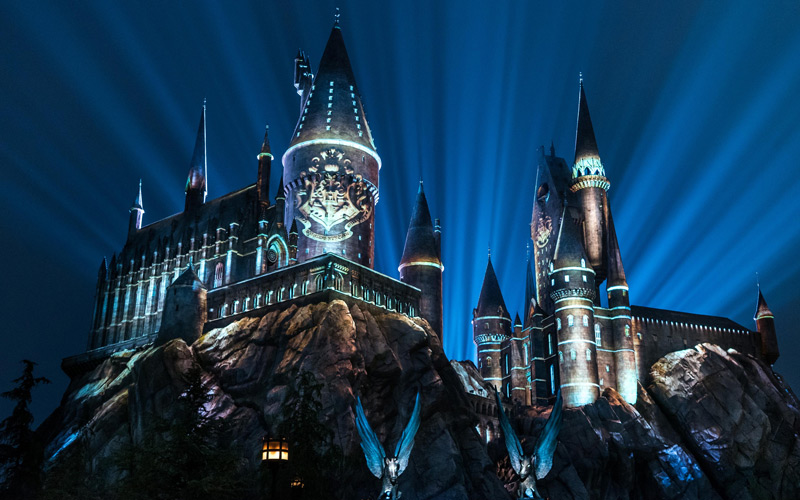 Image result for Nighttime Lights at Hogwarts Castle