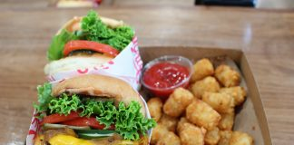monty's good burger new koreatown plant-based burger